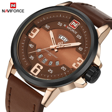 NAVIFORCE Original Luxury Brand Analog Quartz Watch Men Waterproof Fashion Casual Sports Leather Wristwatches Relogio Masculino(China)
