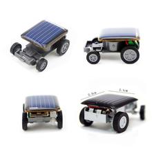 New Strange Black Creative Smallest Mini Solar Powered Car Model Solar Toys Kit Gadgets Educational Baby Kids Toys for Children(China)