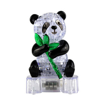 Crystal Puzzle Cute Panda Model Puzzle Popular Kids Toys DIY Building Toy Gift Gadget Crystal 3D Puzzle(China)