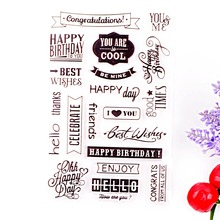Clear Stamp Scrapbook DIY photo cards rubber stamp seal stamp happy transparent silicone transparent stamp(China)