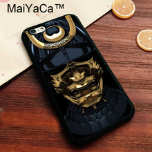 MaiYaCa Japan Samurai Mask Luxury Phone Cases for Apple iPhone 8 Soft TPU Coque Phone Capa For iphone 8 Back Cover