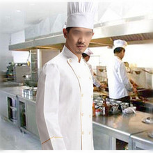 Cooking apron Chef Uniforms Clothing white Long sleeve men women Food Services Cooking Clothes Double-Breasted with pocket