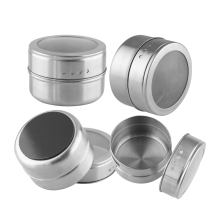 1 pcs BBQ Portable Salt Pepper Handy Stainless Steel Spice Jars Flavoring Container Magnetic Tins(China)
