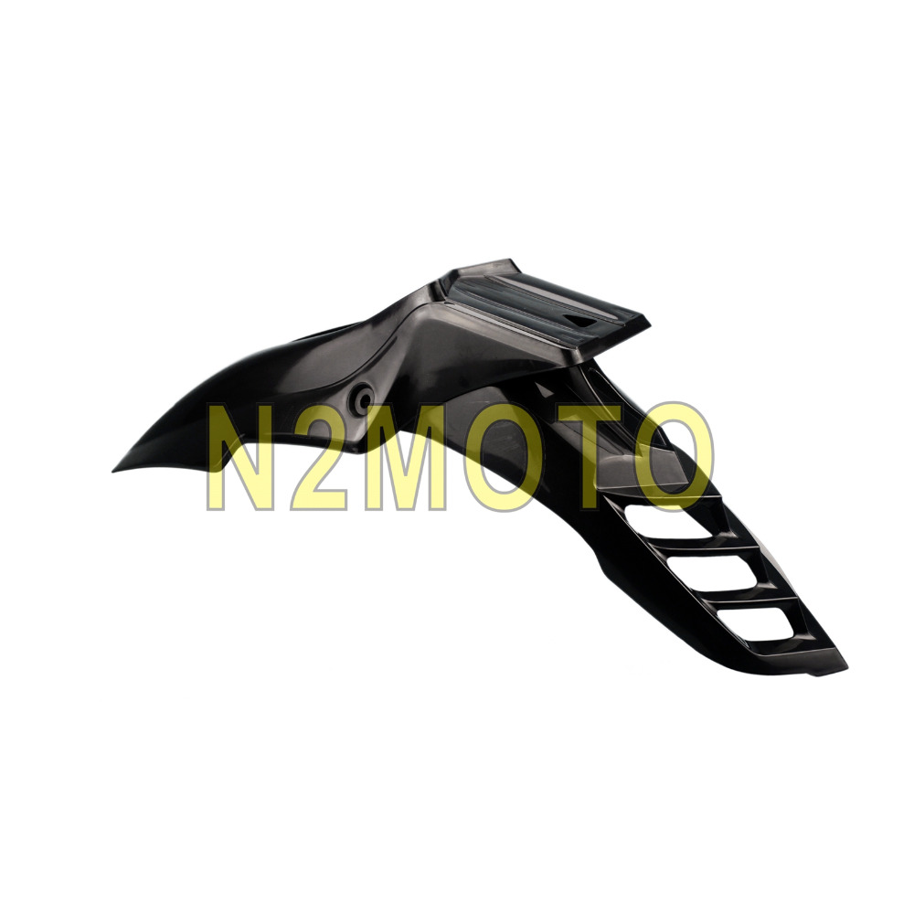 Черный пластик ABS Мотокросс dirt bike переднее крыло Универсальный супер мото EVO переднее крыло подходит для DRZ KX yz KTM WR XR CRF РМЗ(China)