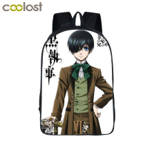 Japanese Anime Black Butler Backpack Children School Bags Cartoon Teenager Backpacks Black Butler Bag Ciel Sebastian Student Bag