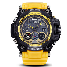 Outdoor Casual Double Display Waterproof Sport Men Watches Military Multifunction Shockproof Digital Electronic Wristwatch Alarm(China)