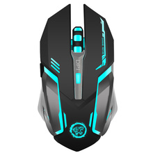 Rechargeable Wireless Gaming Mouse 7-color Backlight Breath Comfort Gamer Mice for Computer Desktop Laptop NoteBook PC(China)