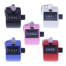 Mini 4 Digit Hand Tally Counter Mechanical Digital Manual Counting Tally Finger Clicker for Sports Golf Training Max. 9999