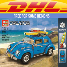 Yile 003 Creator Series City Car Beetle Building Blocks 10252 lepin technic bricks 21003 action figure vehicle toys for children