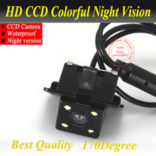 Promotion For Toyota Prado  2011/10 Camera Car Rear View Camera With 4 LED CCD Camera For Toyota Prado 2010(Fix to aside holes)