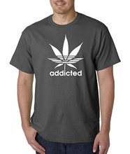 Bigaga Go Tees Addicted  Dopes Weed Pot Leaf  By A2S Men's T-Shirt