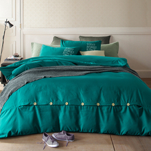 2016 New minimalist pure style home textiles bed linen set sheets sheets quilt pillows soft and comfortable queen