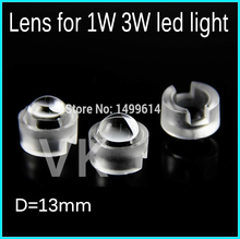 50pcs LED lens for 1W 3w 5W LED light diameter 13mm Reflector Collimator 30 45 60 90 100degree high quality optical lenses(China)