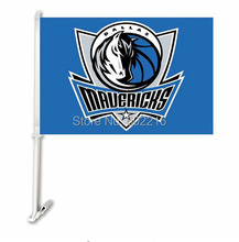 2PC Dallas Mavericks Car Basketball Flag