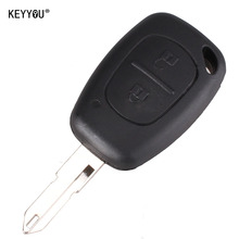 KEYYOU 10pcs/lot 2 Button Remote Key Fob Shell Case Blank For Vivaro Movano Renault Traffic KANGOO For Nissan