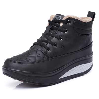 Winter Plus Velvet Warm Women Casual Outdoor shoes Wedges Height Increasing sport boots breathable platfrom shoes B777<br><br>Aliexpress