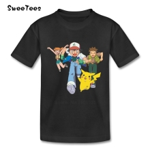 pokemon children's T Shirt 100% Cotton Baby Round Neck Short Sleeve Tshirt Garment Boys Girls 2017 Funny T-shirt For Kid Infant