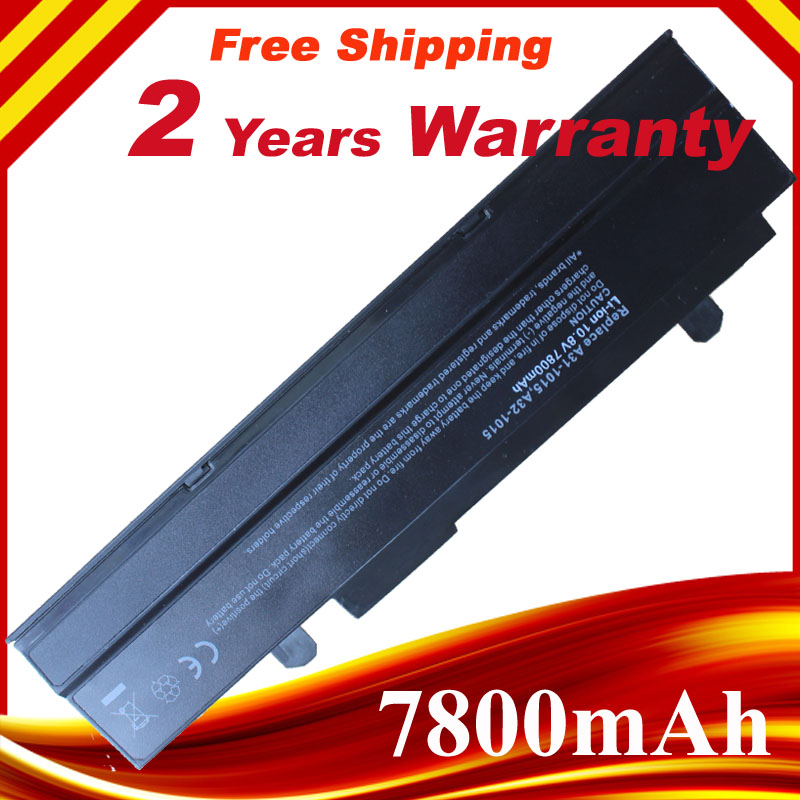 7800mAh  9 Cells Laptop batteries For ASUS EEEPC 1011PXEee PC EPC 1215 PC 1215B 1215N 1015b 1015 1015bx 1015px 1015P