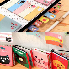 1Bag DIY Cute Cartoon Animal Cat Bear Memo Pad Sticky Sticker Note Kawaii Memo Pads Lovely Cat Bear Sticker For Diary Decoration