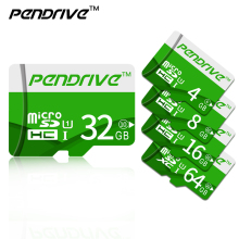 Green TF cards Real Capacity Pendrive SDHC/SDXC Micro SD cards 64GB 32GB 16GB 8GB Full Memory Cards for phone tablet