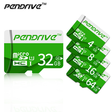 Green TF cards Real Capacity Pendrive SDHC/SDXC Micro SD cards 64GB 32GB 16GB 8GB Full Memory Cards for phone tablet(China)