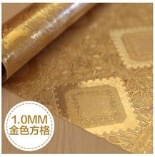 Europe printing gold waterproof PVC tablecloth soft glass table cloth