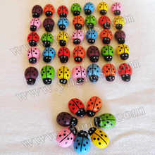 300PCS/LOT.Mixed color mini wood ladybug stickers,Sponge stickers,Easter decoration,Home decoration,Kids toys.Promotion cheap.(China)