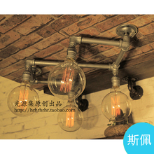 produced wall light pipe industry loft retro coffee bar decorated with dragon wall lamp