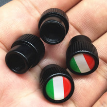 Car Styling Italy Flag Car Wheel Hub Decoration Bicycle Motorcycle Tire Valve Cap Dust Cap For Car Modification Accessories(China)