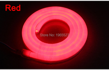 Red LED Neon flex light,80LEDs/m, Waterproof IP68, AC 110V 220V input,Red Color(China)