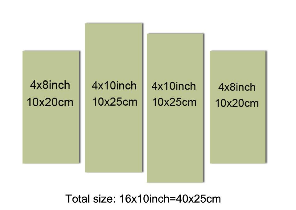 4 PCS 10x20cm 10x25cm