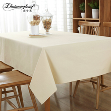 8 Size Solid Color Home Decor Linen Cotton Tablecloth Rectangle Dustproof Table Cover Grey,Coffee,Sky blue,Beige,Green