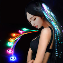 1 x Hot Creative girls luminous hair flash glow braid Children's day birthday party wedding party gifts toys Free shipping(China)