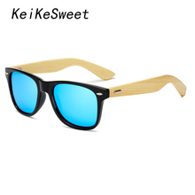 KeiKeSweet Polarized Hot Top Bamboo Man Women Brand Designer Mirror Sun Glasses Rays Wood Cool Original Master Rivet Sunglasses(China)