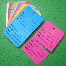 Large Inventory Control Tags Colored, perforated 2-parts coupon tag garment price hangtag consignment stock Label paper ticket(China)