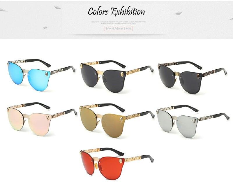 SHAUNA Cool Gothic Sunglasses Crystal Skull Steampunk Sunglasses High Quality Rhinestone Women Men Punk Retro Shades UV400