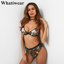 2017 new women bar set burst high-grade embroidery gauze female sexy lingerie set underwear women(China)
