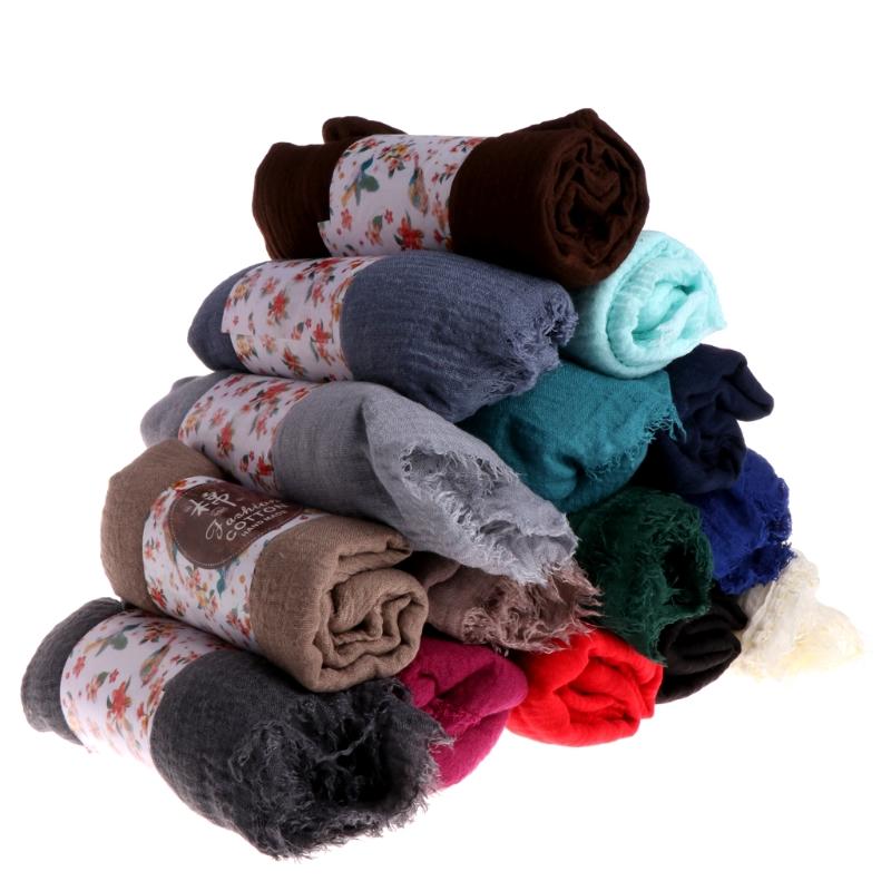 Women Crinkle Cloud Hijab Scarf Shawl Muslim Long Shawl Stole Wrap 5
