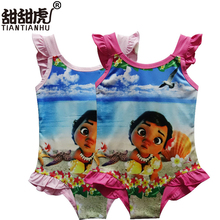 Tiantianhu Girls Clothes Moana Baby Girls Kids Swimming Bikinis Dresses Swimsuit One Piece Sweet Bathing Suit Swimsuit Dress