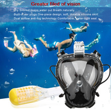 Diving Mask Scuba Mask Underwater Anti Fog Full Face Snorkeling Mask Children Kid Swimming Snorkel Diving Equipment Brand new