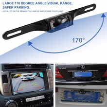 7 LED Car Rear View Camera Night Vision CCD Reverse Backup Parking Rearview Camera CMOS Waterproof