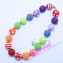 Hot Sell Free Shipping Kids Jewelry DIY Chunky Bubblegum Beaded Handmade Necklace Manufacturer For Amazon Ebay CDNL-410465