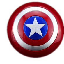 The Avengers Captain 32CM America Shield Light-Emitting Toy shield Red/Blue zy032(China)