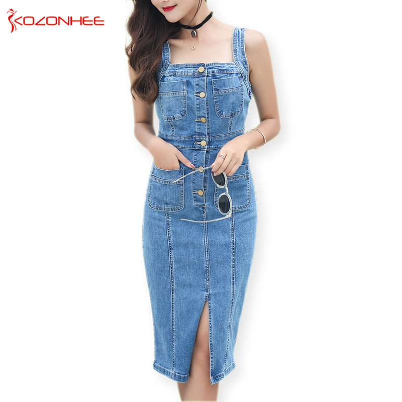 Stretching Sheath Sarafan female Denim Dress Summer For Women Fashion Tight Elasticity Dresses and Sarafans pencil Women's Dress
