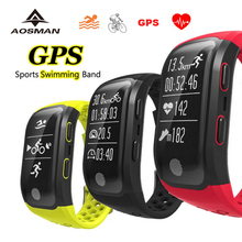 AOSMAN Waterproof gps Sport men watches for swimming heart rate monitor real time dynamic cardiaco top watch Smart Wristband ios