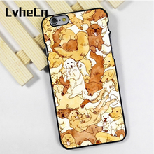 LvheCn phone case cover fit for iPhone 4 4s 5 5s 5c SE 6 6s 7 8 plus X ipod touch 4 5 6 Labrador Golden Retriever Dog Cute(China)