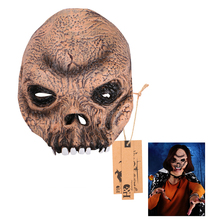 Half Face Cosplay Brown Scary Ghost Latex Mask Horror Masquerade Adult Party Movie Mask Halloween Props Costumes Fancy Dress
