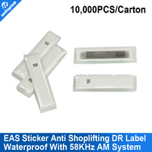 EAS AM sticker eas anti shoplifting DR label,soft label,waterproof label used with 58KHz AM system