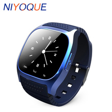 NIYOQUE New M26 Bluetooth Smart Watch Smartwatch With LED Alitmeter Music Player Pedometer For Android IOS Mobile Phone(China)