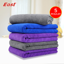 East 5 Pcs 30x70cm Microfiber Cloth Household Cleaning Cloth Car Washing Towels Multipurpose Cleaning Cloth